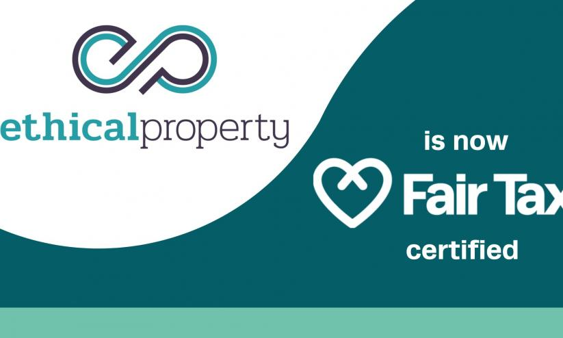 Image reading Ethical Property is now Fair Tax certified