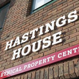 Hastings House sign