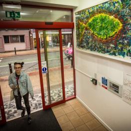 Entrance foyer at Green Fish